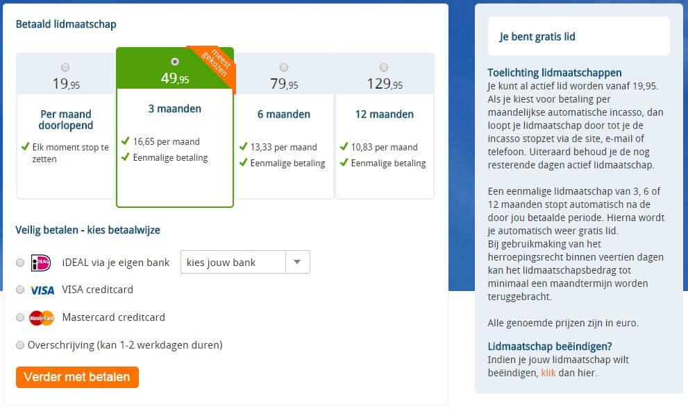 e-matching korting, e-matching abonnement, ematching kosten